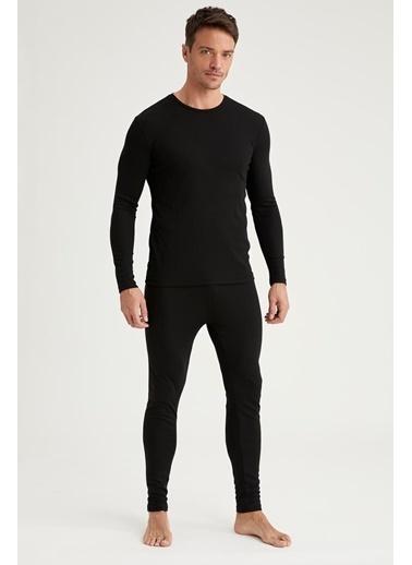 Defacto –Fit Yeni Yıl  Esnek Dokulu Pijama Alt Siyah